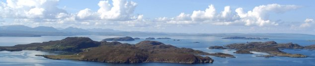 View over the Summer Isles from Polbain